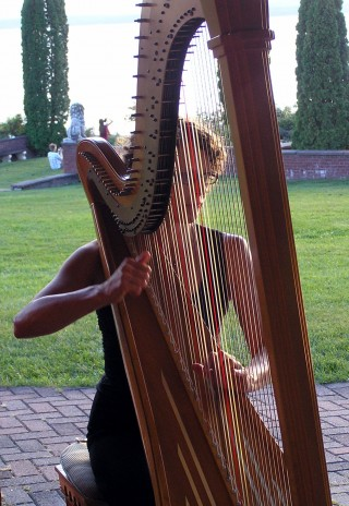 Rebecca Playing for a Wedding
